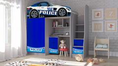 Кровать машина чердак машинка Гоночная Полиция