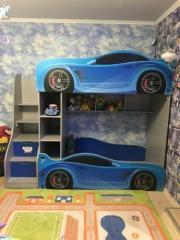 Кровать машина двухъярусная машинка БМВ BMW с