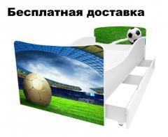 Детская кровать Футбол Стадион футбольное поле