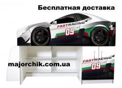 Кровать машина чердак машинка Гонки Fast Racing со