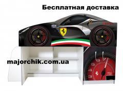 Кровать машина чердак машинка Феррари Ferrari со