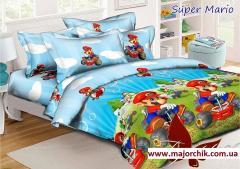 Комплект постельного белья Супер Марио 1,5