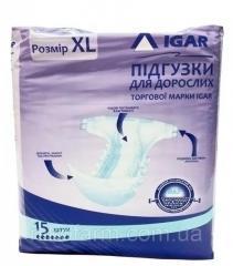 Подгузники для взрослых Игар размер XL №15