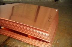 Медная плита М2, 20х600х1500 мм
