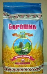 Мука пшеничная высшего сорта фасовка по 5 кг.