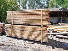 Dřevěné sloupy pro vedení nasáklé, GOST 9463-88
