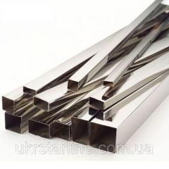 Труба профильная из нержавеющей стали, 40х10
