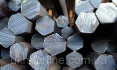 Шестигранник стальной горячекатанный № 37 мм ст. 20, 35, 45, 40Х длина от 3 до 6 м