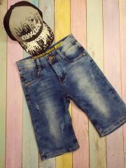 Шорты джинсовые, варенка, для мальчиков,...