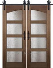 Амбарные выдвижные двери в стиле лофт из...