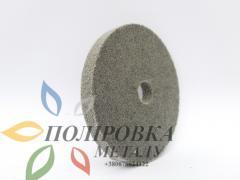 Пена круг полировочный 125*10*22 серый нетканное