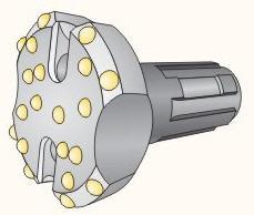 Non-coring bits of big diameters of