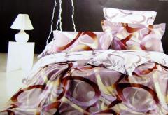 Комплект семейного постельного белья с мако-сатина