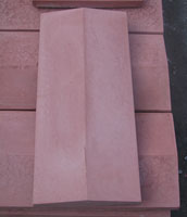 Concrete slab on the fence