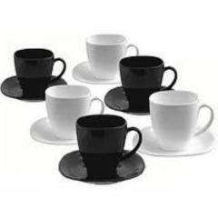 Сервиз чайный LUMINARC D2371 CARINE черн/бел