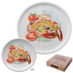 Набор тарелок для пиццы и блинов 5 предметов