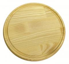 Доска разделочная круглая Кедр КА 0012 21 см
