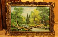 Pictures (landscapes) hand-written oil on a canvas