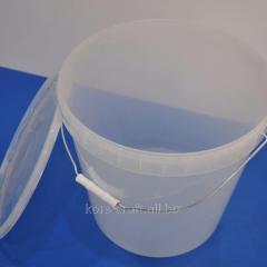 Ведро пластиковое прозрачное 20,5 литров