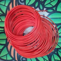 Шланг пластиковый красный 6х4 мм.