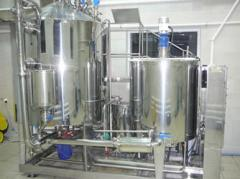 The equipment for production of cosmetic creams