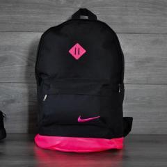 Хитовая расцветка Рюкзак NIKE /Найк портфель, найк. Черный с розовым. Ромбик