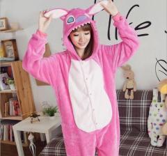 Пижама кигуруми Взрослые и Детские Стич Розовый