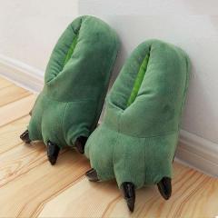 Тапочки кигуруми Лапы, тапки домашние. Зеленый