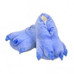 Тапочки кигуруми Лапы, тапки домашние. Синий