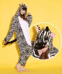 Пижама кигуруми Зебра (взрослые и детские размеры)