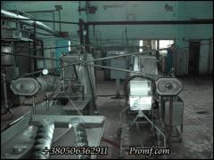 Butter production line by method of continuous