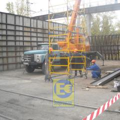 Production and installation of a metalwork for