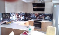 Кухонные стеклянные фартуки (скинали) с