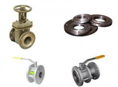 Shutoff valves: latches, spherical cranes, flanges