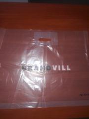 Пакет с печатью,брендовый