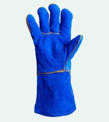 Краги 4508 зварювальні з підкладкою, сині, р10