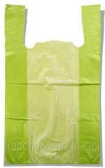 Пакет-майка без рисунка Золотое Сечение салатовый (28×45) 250 шт