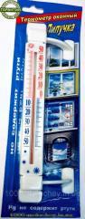Термометр оконный Лапа на липучке