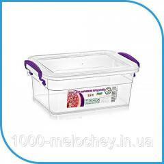 Пищевой пластиковый контейнер 1, 6 л,  бокс...