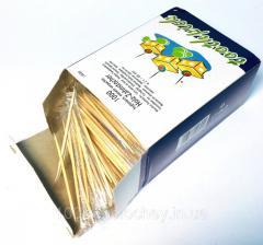 Зубочистки деревянные в индивидуальной...