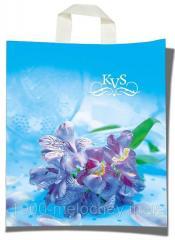 """Пакет с петлевой ручкой тип """"KVS"""" """"Цветы""""..."""