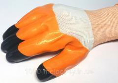 Перчатки рабочие Черные пальцы