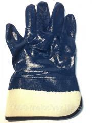 Перчатки БМС (бензо-маслостойкие),  синие, ...