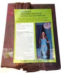Дверная антимоскитная сетка на магнитах 100х210 см