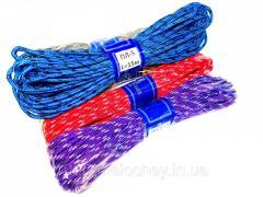 Веревка цветная плетеная D=5mm,  15m