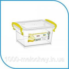 Пищевой пластиковый контейнер 0, 85 л,  бокс...
