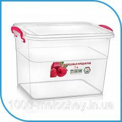 Пищевой пластиковый контейнер 7 л,  бокс для...