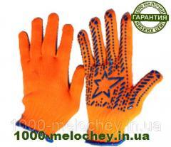 Перчатки рабочие трикотажные с ПВХ рисунком...