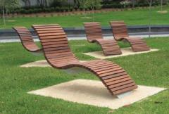 Лежак деревянный «волны»