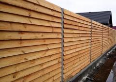 Деревянный забор «Жалюзи-1»